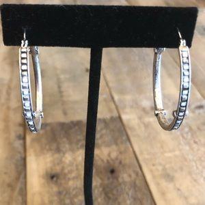 Beautiful silver earrings /hoops